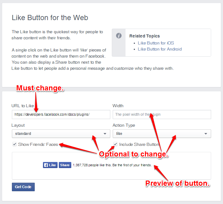 how to add facebooklike button to a website