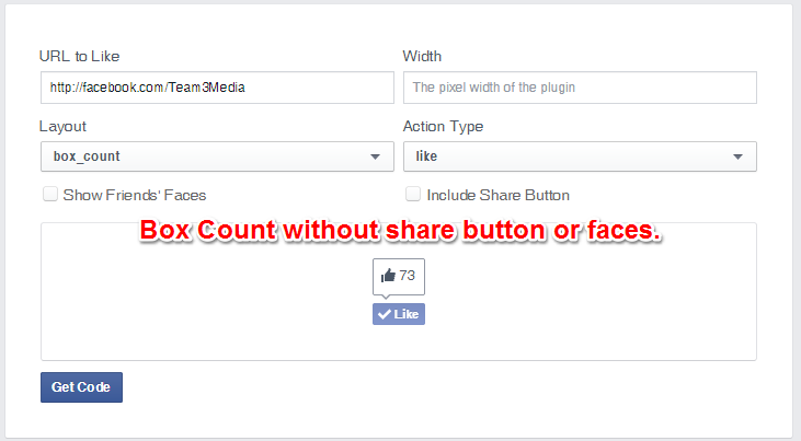 Facebook Like Button Box Count Layout Without Share
